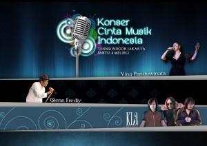 Konser Cinta Musik Indonesia. Vina Panduwinata. KLa Project