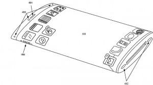 Gambar tak bertanggal yang diberikan oleh kantor US Patent menunjukkan paten Apple untuk iPhone yang memiliki layar yang membungkus di sekitar tepi perangkat, memperluas area pandang dan menghilangkan semua tombol fisik